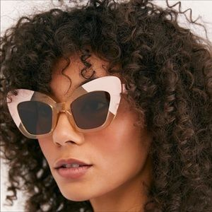 Free People x SEA Extreme Cat Eye Sunglasses